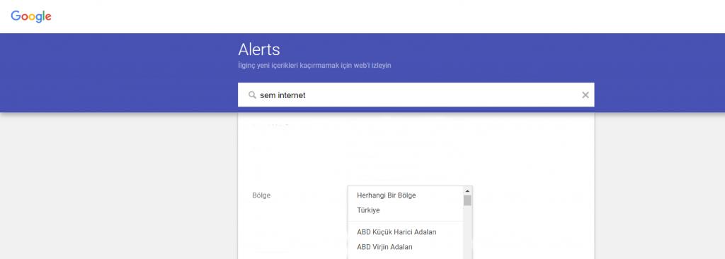 Google Alerts Kurulumu