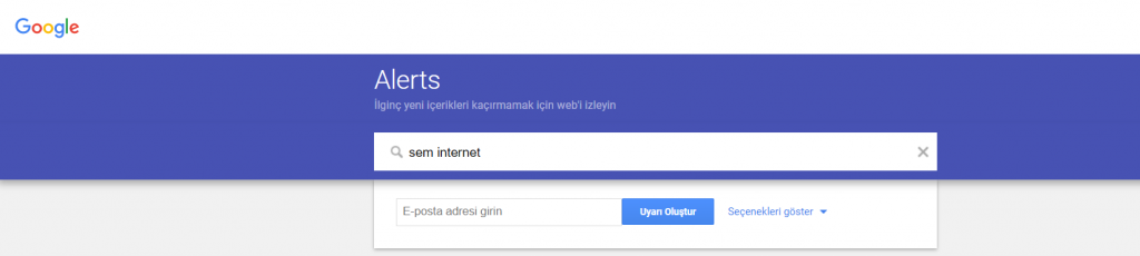 Google Alerts Kurma