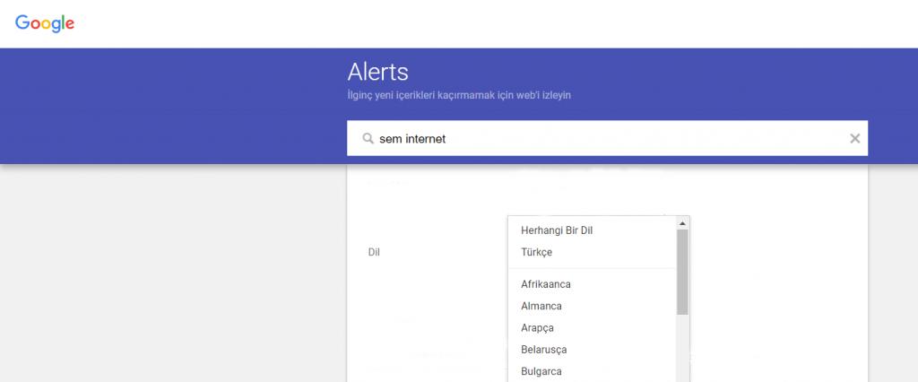 Google Alerts Yapımı