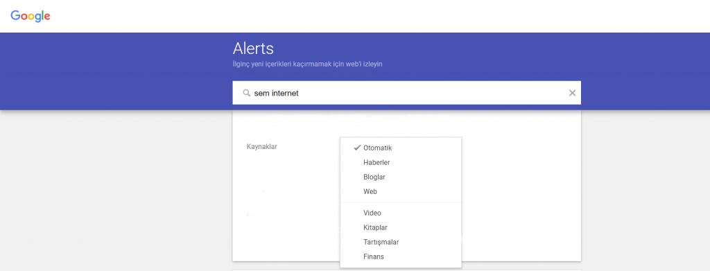 Google Alerts Nedir