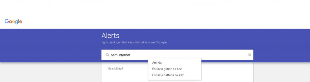 Google Alerts Nasıl Kurulur